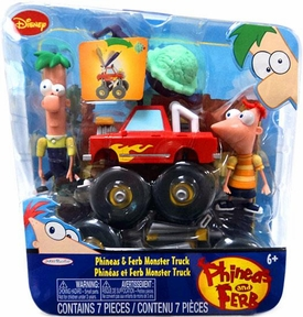 Disney Phineas and Ferb Mini Figure 2-Pack Phineas & Ferb Monster Truck
