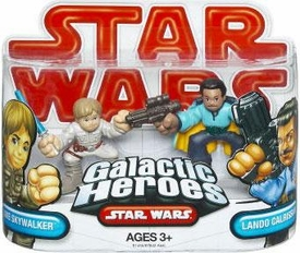 Star Wars 2009 Galactic Heroes Mini Figure 2-Pack Lando Calrissian & Luke Skywalker