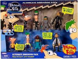 Disney Phineas and Ferb Exclusive PVC Mini Figure 8-Pack Alternate Dimension Pack [Phineas, Ferb, Platyborg & Dr. Doofenshmirtz]