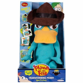 Disney Phineas and Ferb Deluxe Plush Figure Transforming Agent P to Perry
