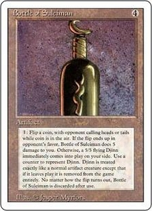 Magic the Gathering Revised Edition Single Card Rare Bottle of Suleiman