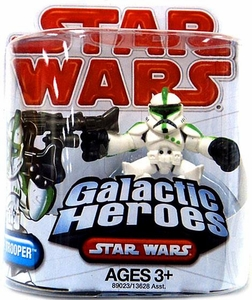 Star Wars 2009 Galactic Heroes Mini Figure Clone Trooper
