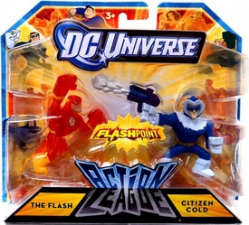 DC Universe Action League Flashpoint Mini Figure 2-Pack The Flash & Citizen Cold
