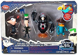 Disney Phineas & Ferb Across 2nd Dimension Exclusive Action Figure 4-Pack Phineas, Ferb, Agent P & Normbot