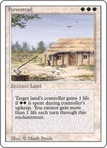 Magic the Gathering Revised Edition Single Card Rare Farmstead