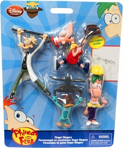 Disney Phineas and Ferb Exclusive Finger Flickers [Phineas, Ferb, Agent P & Dr. Doofenshmirtz]
