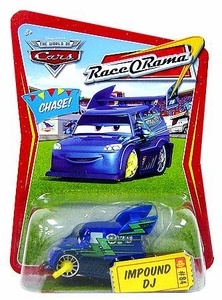 Disney / Pixar CARS Movie 1:55 Die Cast Car Series 4 Race-O-Rama Impound DJ Chase Piece!