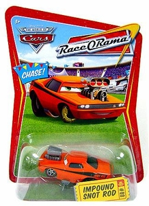 Disney / Pixar CARS Movie 1:55 Die Cast Car Series 4 Race-O-Rama Impound Snot Rod Chase Piece!
