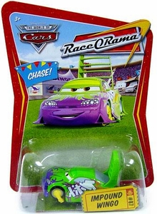 Disney / Pixar CARS Movie 1:55 Die Cast Car Series 4 Race-O-Rama Impound Wingo Chase Piece!
