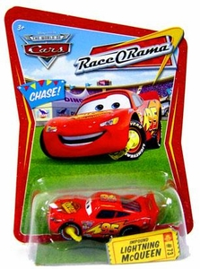 Disney / Pixar CARS Movie 1:55 Die Cast Car Series 4 Race-O-Rama Impound Lightning McQueen [NO Confetti Package] Chase Piece!