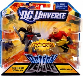 DC Universe Action League Flashpoint Mini Figure 2-Pack Wonder Woman & Aquaman