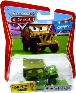 Disney / Pixar CARS Movie 1:55 Die Cast Car Saluting Sarge Chase Piece!