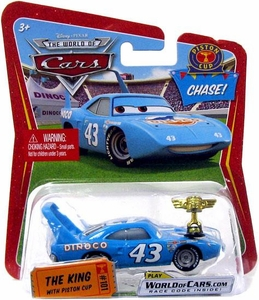 Disney / Pixar CARS Movie 1:55 Die Cast Car King with Piston Cup Trophy Chase Piece!