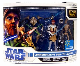 Star Wars Clone Wars Animated Exclusive Action Figure 3-Pack Commemorative DVD Collection 1 [Obi-Wan Kenobi, General Grievous & Battle Droid]