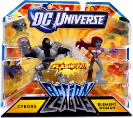 DC Universe Action League Flashpoint Mini Figure 2-Pack Cyborg & Element Woman