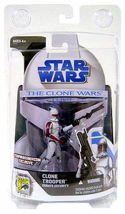 Star Wars Clone Wars 2008 SDCC San Diego Comic-Con Exclusive Action Figure Clone Trooper Senate Security