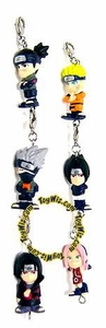 Naruto Collectible Set of 6 Mini Keychain Figures