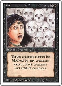 Magic the Gathering Revised Edition Single Card Common Fear