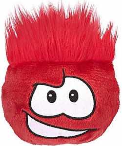 Disney Club Penguin 4 Inch Series 4 Plush Puffle Red {Rockhopper's} [Includes Coin with Code!]