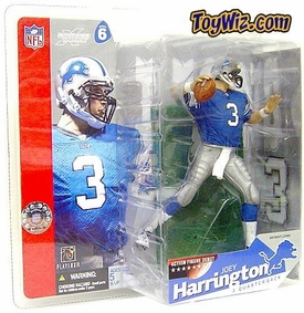 McFarlane Toys NFL Sports Picks Series 6 Action Figure Joey Harrington (Detroit Lions) Blue Jersey
