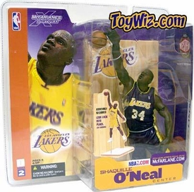 McFarlane Toys NBA Sports Picks Series 2 Action Figure Shaquille O'Neal (Los Angeles Lakers) Purple Uniform Variant