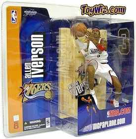 McFarlane Toys NBA Sports Picks Series 6 Action Figure Allen Iverson (Philadelphia 76ers) White Jersey Variant
