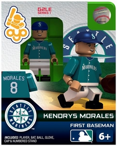 OYO Baseball MLB Generation 2 Building Brick Minifigure Kendrys Morales [Seattle Mariners]