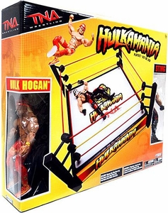 TNA Wrestling Playset Ring Hulkamania [Includes Hulk Hogan & Sting Action Figures]