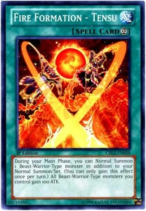 YuGiOh Zexal Cosmo Blazer Single Card Common CBLZ-EN058 Fire Formation - Tensu