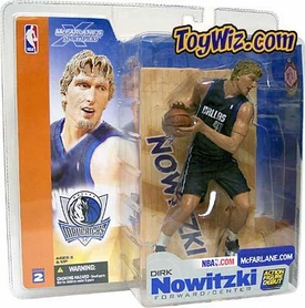 McFarlane Toys NBA Sports Picks Series 2 Action Figure Dirk Nowitzki (Dallas Mavericks) Black Jersey