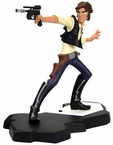 Star Wars Gentle Giant 8.5 Inch Maquette Statue Clone Wars Style Han Solo