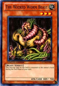 YuGiOh Gold Series 4 2011 Single Card Common GLD4-EN003 The Wicked Worm Beast