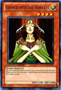 YuGiOh Gold Series 4 2011 Single Card Common GLD4-EN004 Goddess with the Third Eye