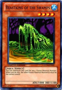 YuGiOh Gold Series 4 2011 Single Card Common GLD4-EN005 Beastking of the Swamps