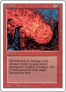 Magic the Gathering Revised Edition Single Card Common Fireball