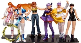 Dead or Alive Kaiyodo & Takara Super Articulated Set of 6 Mini Figures