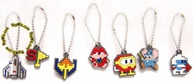 Video Game Classics Rubber Keychain Set of 7 BLOWOUT SALE!