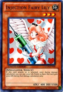 YuGiOh Gold Series 4 2011 Single Card Common GLD4-EN009 Injection Fairy Lily