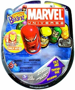 Mighty Beanz 2010 Marvel Starter Pack Set [4 Beanz] BLOWOUT SALE!