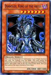 YuGiOh Gold Series 4 2011 Single Card Common GLD4-EN018 Diabolos, King of the Abyss