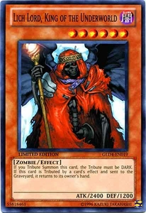 YuGiOh Gold Series 4 2011 Single Card Common GLD4-EN019 Lich Lord, King of the Underworld