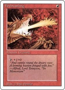 Magic the Gathering Revised Edition Single Card Common Firebreathing