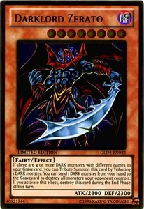 YuGiOh Gold Series 4 2011 Single Card Gold Rare GLD4-EN022 Darklord Zerato
