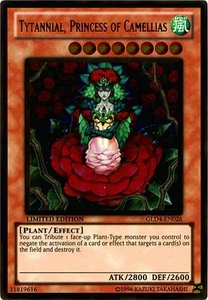 YuGiOh Gold Series 4 2011 Single Card Gold Rare GLD4-EN026 Tytannial, Princess of Camellias
