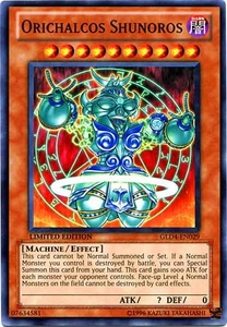YuGiOh Gold Series 4 2011 Single Card Common GLD4-EN029 Orichalcos Shunoros