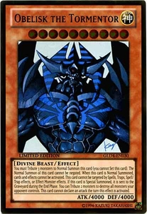 YuGiOh Gold Series 4 2011 Single Card Gold Rare GLD4-EN030 Obelisk the Tormentor
