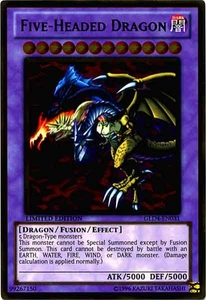 YuGiOh Gold Series 4 2011 Single Card Gold Rare GLD4-EN031 Five-Headed Dragon