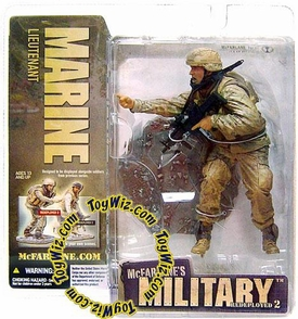 McFarlane Toys Military Soldiers REDEPLOYED Series 2 Action Figure Marine Lieutenant (*Random Ethnicity)