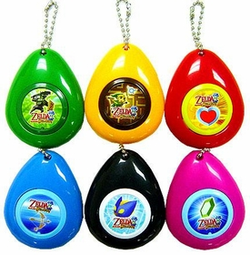 Legend of Zelda Phantom Hourglass Set of 6 Sound Effect Keychains