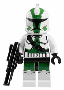 LEGO Star Wars LOOSE Mini Figure Clone Wars Commander Gree with Blaster